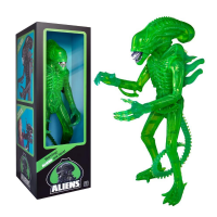"Aliens Supersize -  Alien Warrior 18"" Classic Toy Edition (1986) (Acid Blood - Translucent Green)"